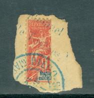 Madagascar 34 Bisect On Piece, Yvert 78b Used - Madagascar (1889-1960)