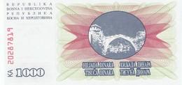 BOSNIE-HERZEGOVINE - 1000 Dinara - NEUF - Bosnie-Herzegovine