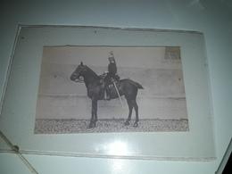 Photo Ancienne Original Militaire A Cheval - Oorlog, Militair