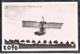 9736  AV034 AK PC CARTE PHOTO2070 VUE ARRIERE DE L AEROPLANE SANTOS DUMONT 19 NON CIRCULER TTB - ....-1914: Precursori