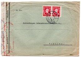 SLOVAKIA - COVER FROM BRATISLAVA TO GERMANY (GORLITZ) / CENSORED - Storia Postale