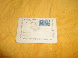 CARTE LETTRE ANCIENNE N°14803 DE 1943. / JOURNEE NATIONALE DU TIMBRE. / CACHET STE FOY LA GRANDE GIRONDE TIMBRE NICOLAS - 1921-1960: Modern Period