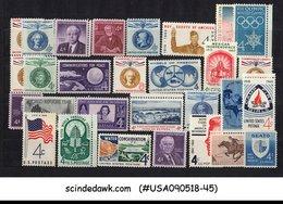 UNITED STATES USA - 1960 COMMEMORATIVE STAMP SCOTT#1145-73 29V MNH - Vereinigte Staaten