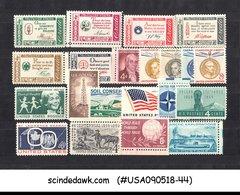 UNITED STATES USA - 1959-61  COMMEMORATIVE STAMPS SC#1124-36, 1139-44 21V MNH - United States