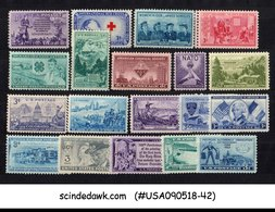 UNITED STATES USA - 1951-52 COMMEMORATIVE FULL SET SC#998-1016 - 19V MNH - United States