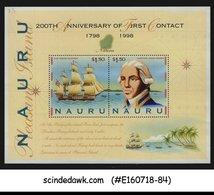 NAURU - 1998 200th ANNIVERSARY OF 1st CONTACT / SHIP - MIN/SHT MNH - Nauru