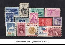 UNITED STATES USA - 1957 COMMEMORATIVES SET COMPLETE SC#1089-99 14V MNH - Vereinigte Staaten