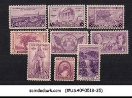 UNITED STATES USA - 1935-36 COMMEMORATIVE STAMPS SC#772-77,782-84 9V MNH - United States