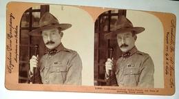 Photo Stereo Fin  XIXème  South Africa Lieutenant Général Baden Powell  .... Scoutisme    Keystone - Stereoscopic