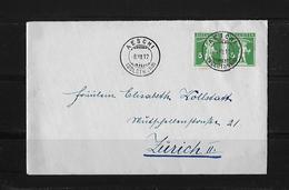 HEIMAT SOLOTHURN → Brief Aeschi Nach Zürich 1912 - Suisse