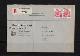 HEIMAT SCHWYZ → Brief Ferd.Kennel Mech.Küferei Küssnacht Am Rigi Nach Genf 1948 - Schweiz
