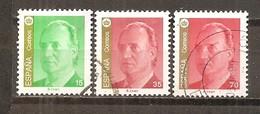 España/Spain-(usado) - Edifil  3526-28 - Yvert  3101-02, 3107 (o) - 1931-Hoy: 2ª República - ... Juan Carlos I