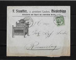 HEIMAT BERN → Brief F.Stauffer Möbelfabrik Niederbipp Nach Rumisberg 1905 - 1882-1906 Armoiries, Helvetia Debout & UPU
