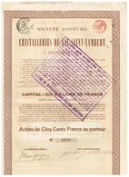 Action Ancienne - Société Anonyme Des Cristalleries Du Val Saint-Lambert - Titre De 1920 - Industrie