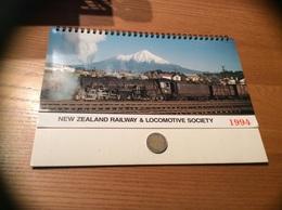 "Calendrier 1994 (15 Feuilles) ""NEW ZEALAND RAILWAY & LOCOMOTIVE SOCIETY"" Nouvelle Zélande (train) - Big : 1991-00"