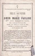 DIEST BERLEGEM Soeur De Charité  Marie Pauline Née Anne Elisabeth HAES 1795-1872 Dp Doodsprentje Zuster - Obituary Notices