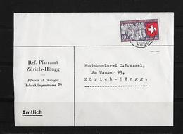 HEIMAT ZÜRICH → Brief Ref. Pfarramt  Zürich-Höngg 1939 - Suisse