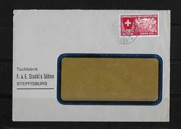 HEIMAT BERN → Brief Tuchfabrik F. & E. Stucki's Söhne Steffisburg 1939 - Suisse