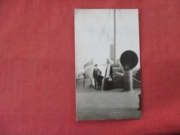 RPPC    Family On Ship Blurry Photo     Ref. 3083 - Postcards