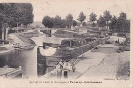 CPA : Batellerie    Venarey Les Laumes (21) Le Port Du Canal De Bourgogne   Péniche  Col J L - Venarey Les Laumes