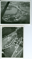 2 Photos Aériennes Bukavu RD Congo Kivu Vers 1950 Par Pères Blancs Africa Films Boechout - Africa
