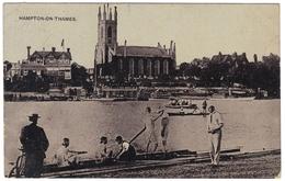 Hampton-on-Thames - Postmark 1908 - The Auto-Photo Series - London Suburbs