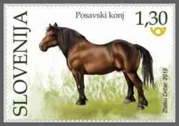 H01 Slovenia 2018 Posavina Horse MNH Postfrisch - Slowenien