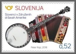 H01 Slovenia 2018 Slovenes In The USA MNH Postfrisch - Slovénie