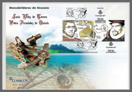 H01 Spain 2017 Discoverers Of Oceania FDC - 2011-... Ungebraucht
