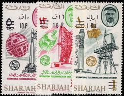 Sharjah 1966 ITU New Currency Set Unmounted Mint. - Sharjah