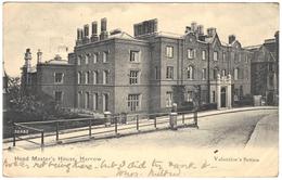 Head Master's House, Harrow - Postmark 1905 - Valentine's Series - London Suburbs