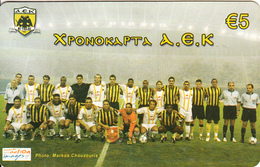 GREECE - AEK FC, Amimex Prepaid Card 5 Euro, Tirage 5000, Mint - Sport