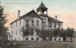 Old Postcard - Portage La Prairie Manitoba - East Ward School - Valentine & Sons - 2 Scans - Manitoba