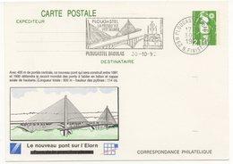 Entier Postal 1992 : Le Nouveau Pont Sur L'Elorn - 29 Plougastel   Le 30/10/1992 (Réf A0489) - Entiers Postaux