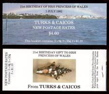 Turks And Caicos 1982 Mi# 598+ 599+ 603** PRINCESS DIANA, 21st BIRTHDAY - Turks & Caicos (I. Turques Et Caïques)