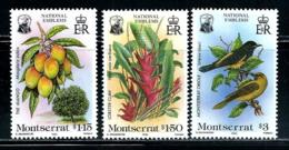 "Montserrat    ""Flora & Fauna""     Set        SC# 551-53    MNH - Montserrat"