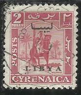 LIBIA LIBYA 1951 REGNO INDIPENDENTE EMISSIONE PER LA CIRENAICA CYRENAICA 2m USATO USED OBLITERE' - Libia