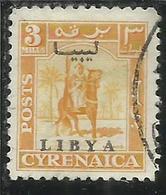 LIBIA LIBYA 1951 REGNO INDIPENDENTE EMISSIONE PER LA CIRENAICA CYRENAICA 3m USATO USED OBLITERE' - Libia