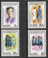 St Kitts SG84-87 1981 Girl Guides Set 4v Complete Unmounted Mint [38/31686/1D] - St.Kitts-et-Nevis ( 1983-...)