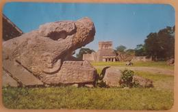Chichen Itza, Yucatan, Mexico - Head Of The Plumed Serpent About To Devour The Temple Of The Jaguar - Maya Art - Messico