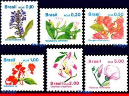 Ref. BR-2176-81 BRAZIL 1989 - FLORA, SET COMPLETE, MNH, FLOWERS, PLANTS 6V Sc# 2176-2181 - Végétaux