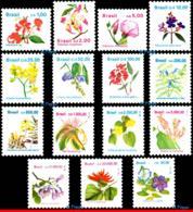 Ref. BR-2259-73 BRAZIL 1990 - 1991, 1992 & 1993, FLORA,, SET COMPLETE MNH, FLOWERS, PLANTS 15V Sc# 2259-2273 - Brazil