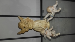 Lot De 3 Anges (sujets En Résine Et Plâtre) - Anges
