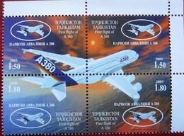 Tajikistan  2005  Airbus  A380 4v   MNH - Tadjikistan