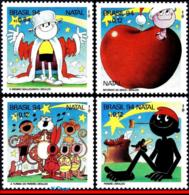 Ref. BR-2523A-D BRAZIL 1994 CHRISTMAS, CHILDREN'S BOOK, ZIRALDO, COMICS, MI# 2629-2632, SET LOOSE MNH 4V Sc# 2523 - Brazil