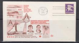 SPACE  - USA-  1981- SHUTTLE STS 1  ILLUSTRATED COVER  WITH CAPE CANAVERAL  APR 13 1981   POSTMARK - Covers & Documents
