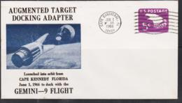 SPACE  - USA-  1966 - GEMINI 6 DOCKING ADAPTOR   ILLUSTRATED  COVER WITH CAPE CANAVERAL  JUN 1 POSTMARK - Covers & Documents