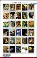 Ref. BR-V2018-09 BRAZIL 2018 ANIMALS, FAUNA, PETS, UPAEP, DOGS, CATS,, RABBIT, FISH, BIRDS, SHEET MNH 30V - Songbirds & Tree Dwellers