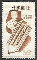 Ryukyu Islands   1953   Sc#29   4y  Newspaper Week   MH  2016 Scott Values $11 - Ryukyu Islands