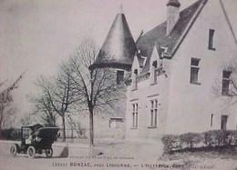 Belle Cpa 33 BONZAC Près Libourne HOTEL DE VILLE ,  Animée Voiture à Capote . GIRONDE . EDITEUR HENRY GUILLIER - Autres Communes